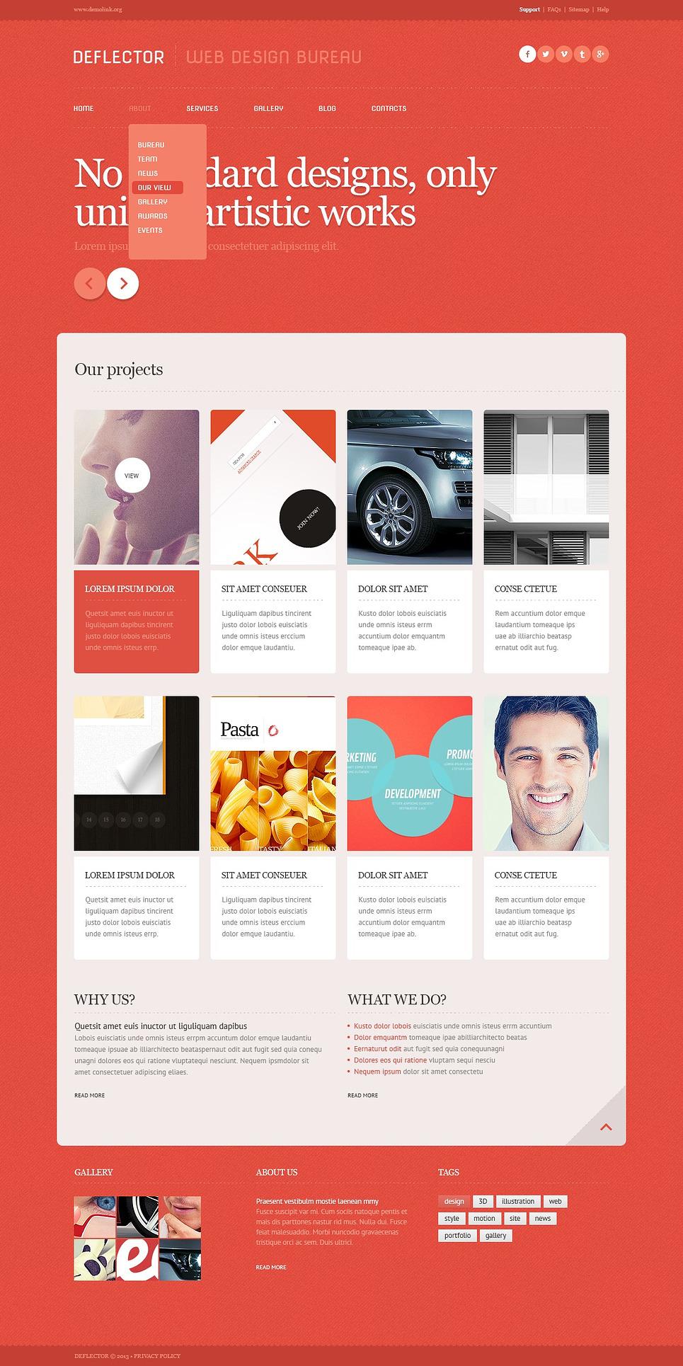 Red Web Design Studio WordPress Theme New Screenshots BIG