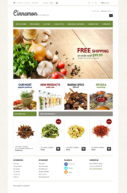 Spices & Herbs - Apt Spices Store PrestaShop Theme