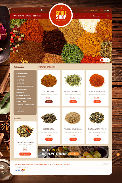 Spice shop - Eye Catching Spice Store PrestaShop Theme
