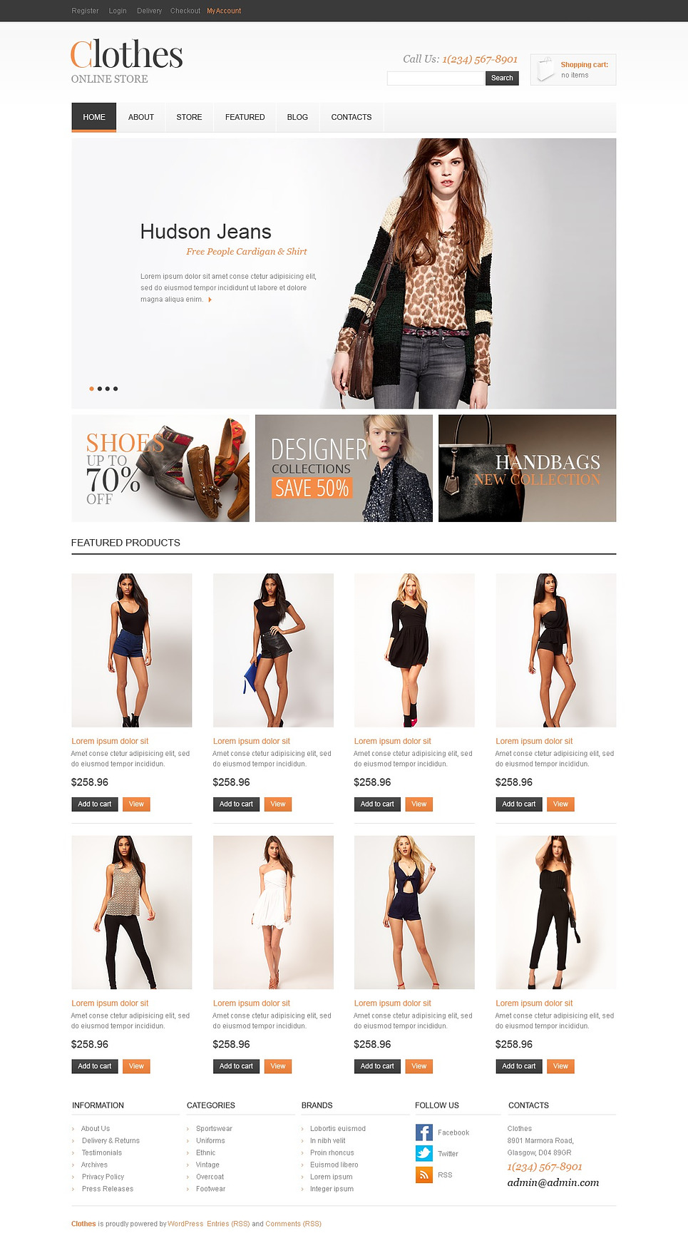 Clothes - Best Responsive Clothes For All Seasons Jigoshop Theme