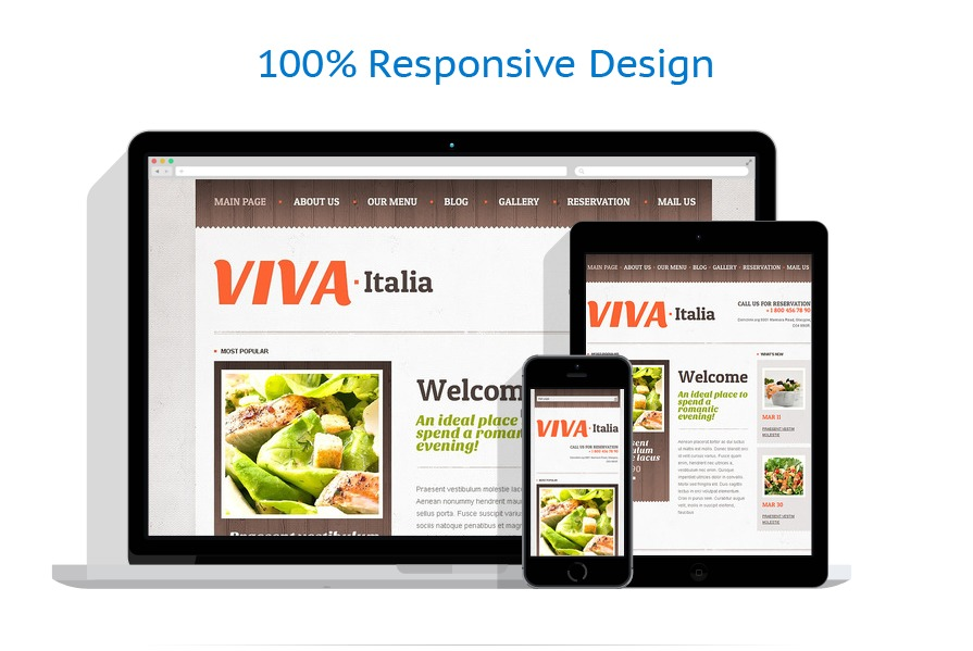 Responsive Pizza Drupal Template