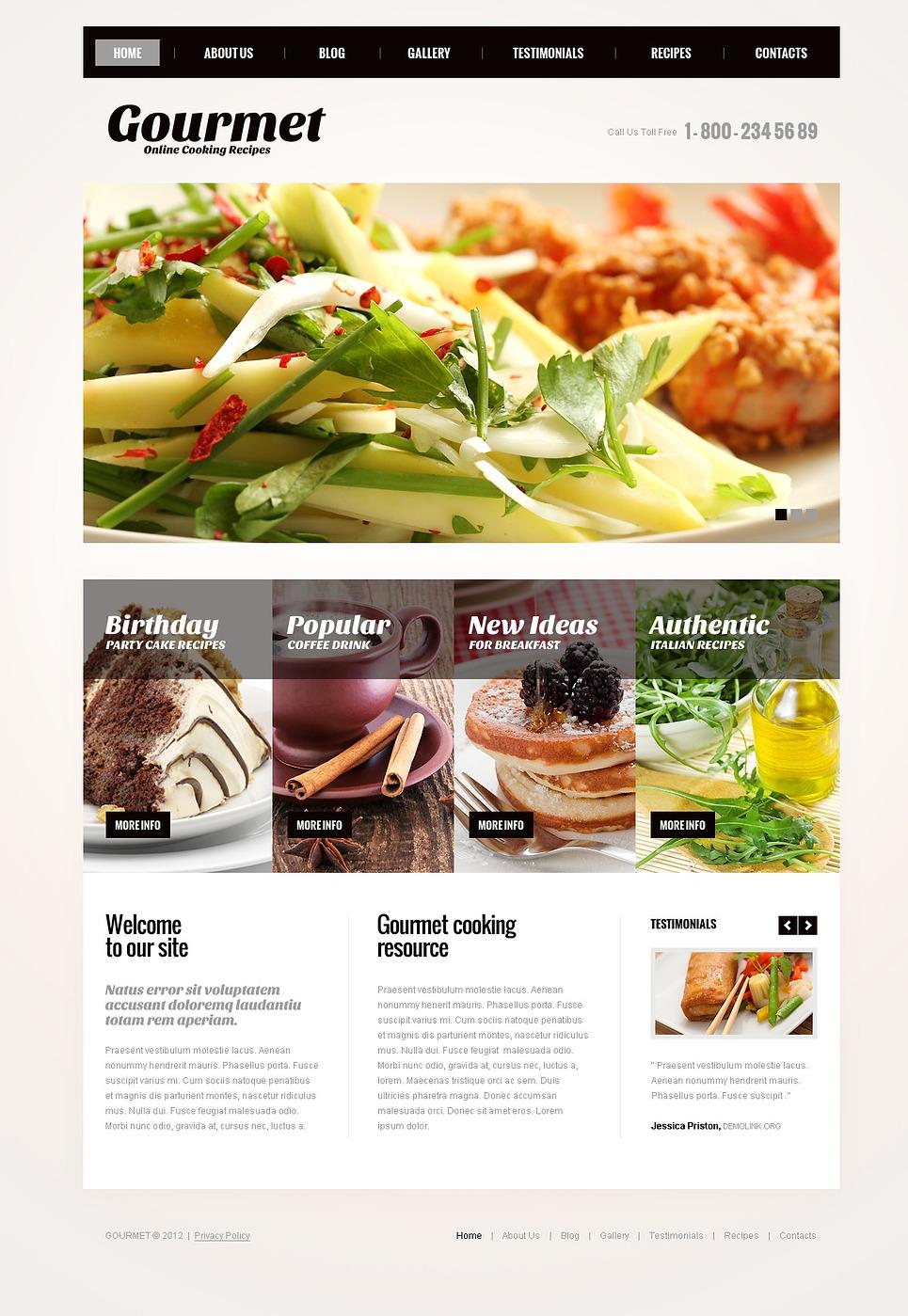 Excellent Cooking Recipes Joomla Template