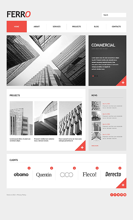 Ferro - Fully Responsive WordPress Theme For Business