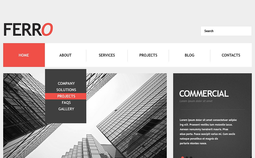 Cherry Management Company WordPress Theme New Screenshots BIG