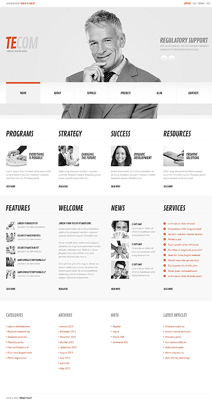 View live Demo for Tecom Marketing Agency - WordPress Fully Responsive Theme