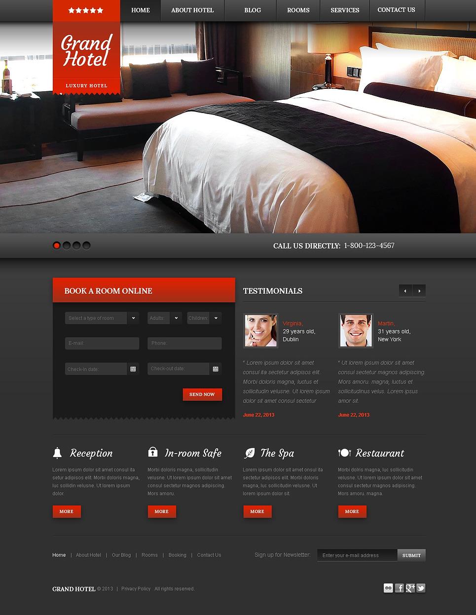 Cherry Hotels WordPress Theme New Screenshots BIG