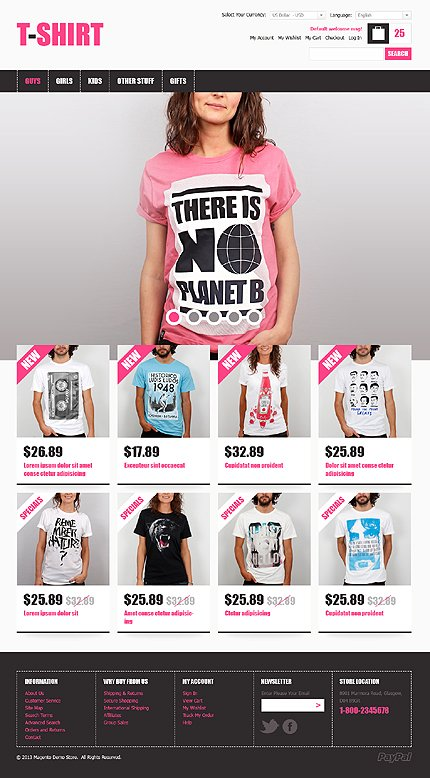 T-shirt - Effective T-Shirt Magento Theme