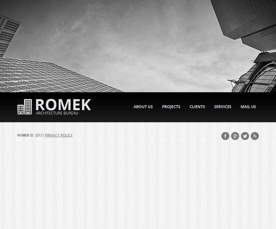 Photography Background Website Template for Architects - image