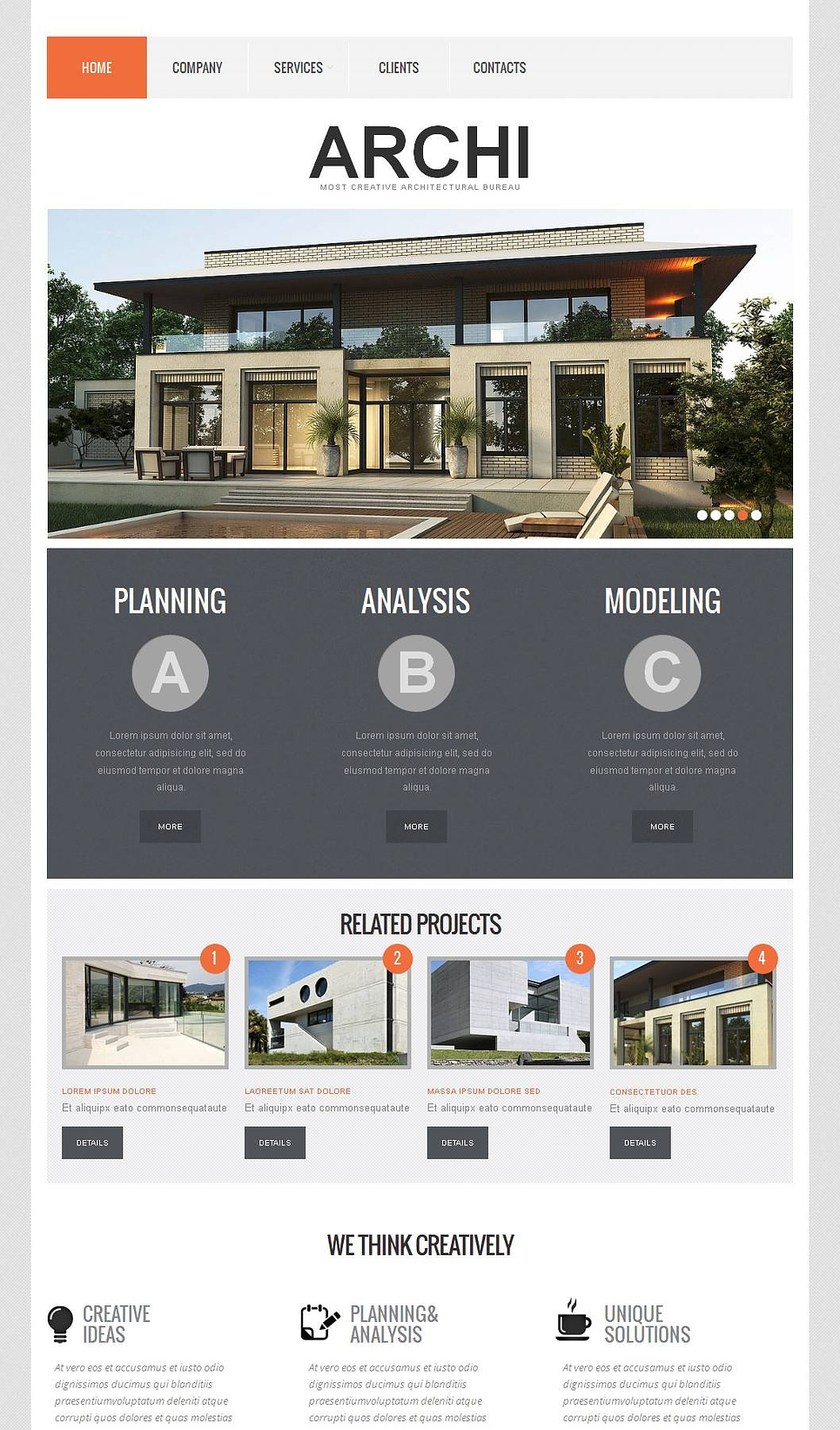 Architect Web Template with Large Home Page - image