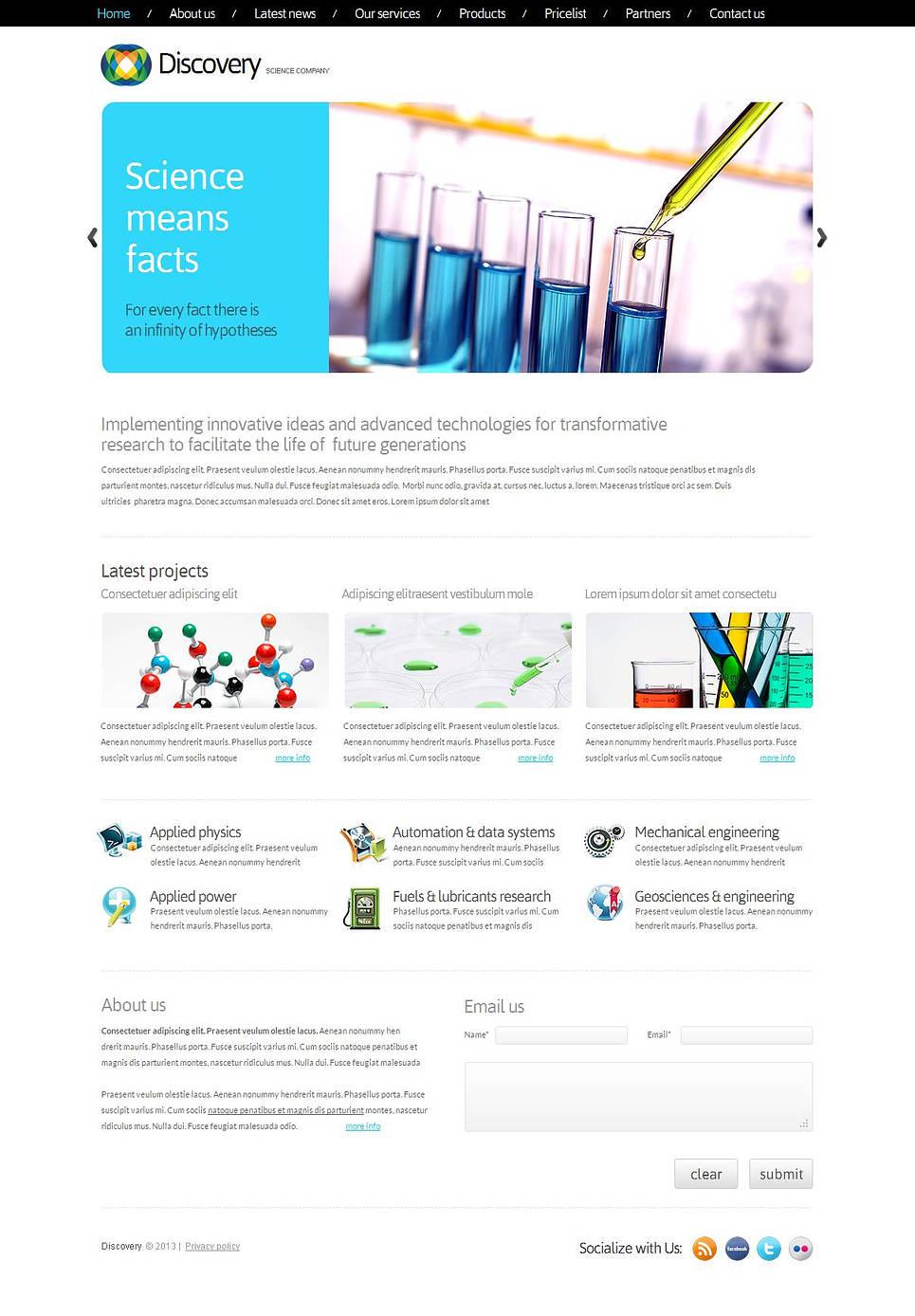 MotoCMS HTML Vorlage #43819 aus der Kategorie Wissenschaft - image