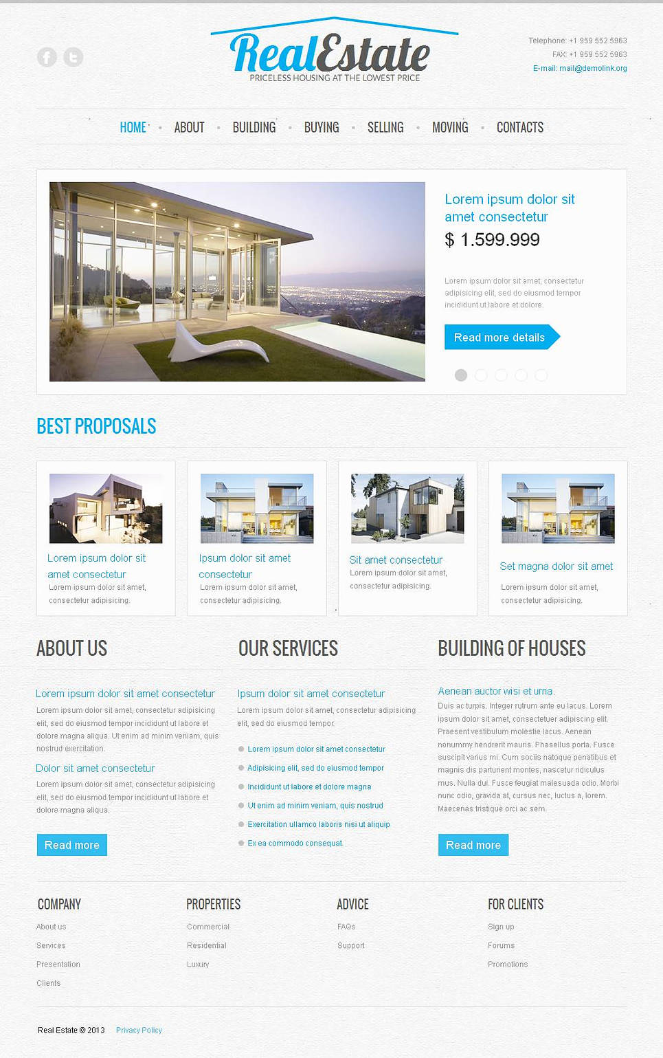 Business Website Template for a Real Estate Agency - image