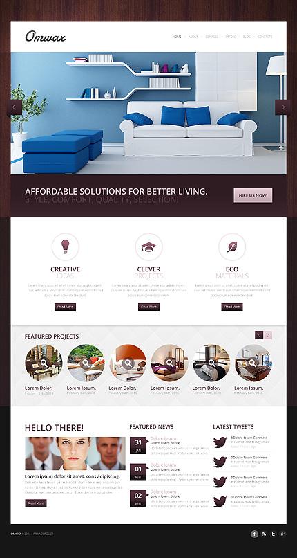 Onwax - Elegant Responsive Interior Design Drupal Template