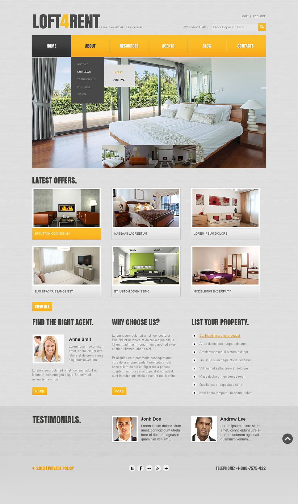 A Resourceful Joomla Template for Real Estate
