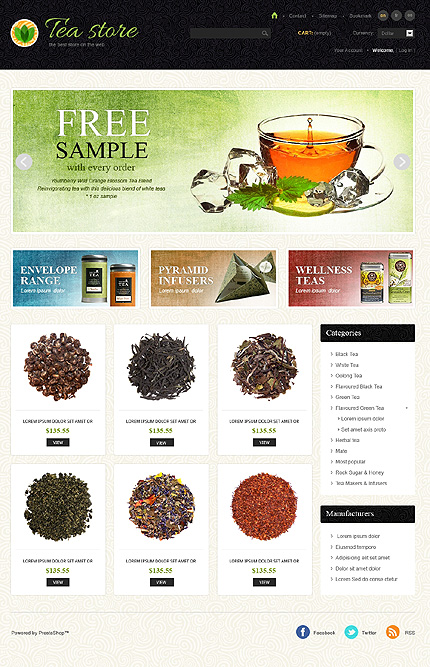 Tea store – Utmost Tea Shop PrestaShop Theme