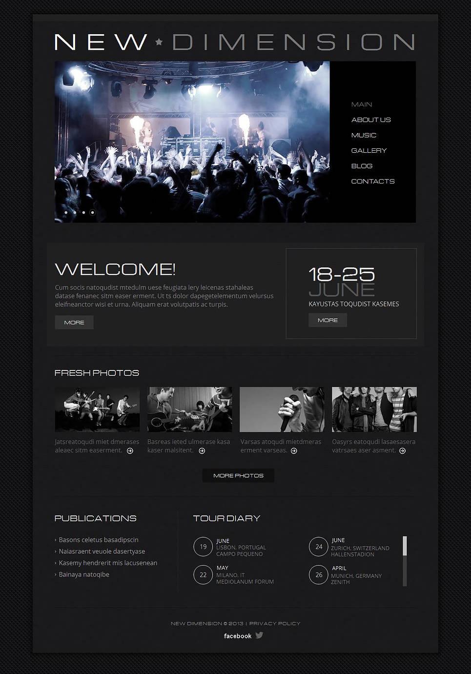 MotoCMS HTML Vorlage #43920 aus der Kategorie Musik - image
