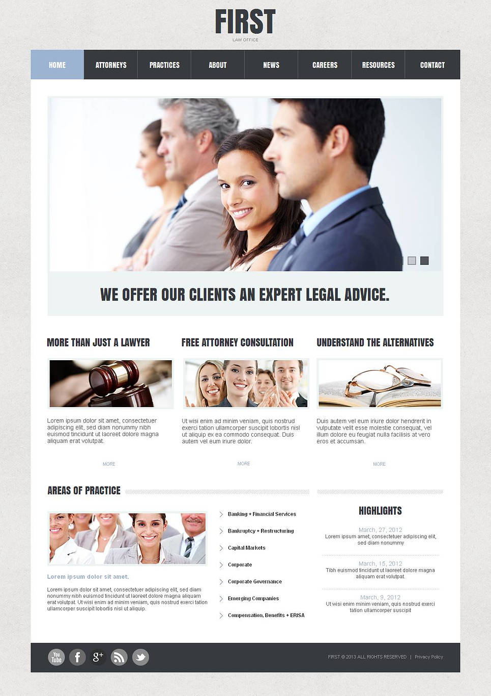 MotoCMS HTML Шаблон #43923 из категории Закон - image
