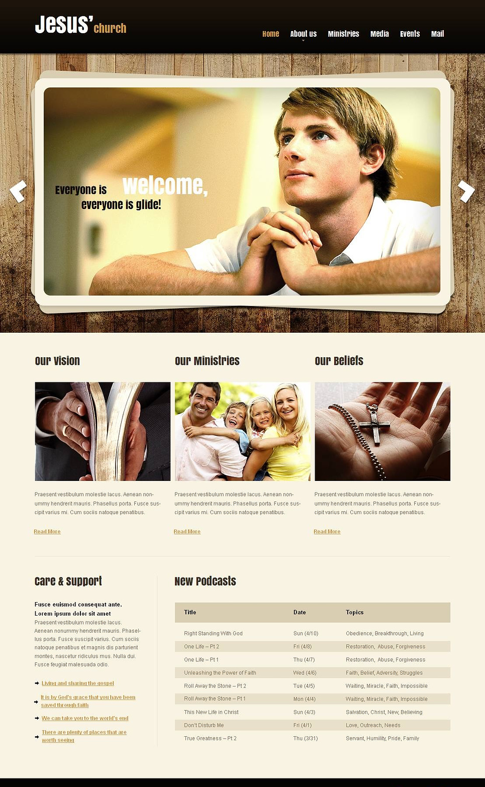 Website Template for Churches and Ministries - image