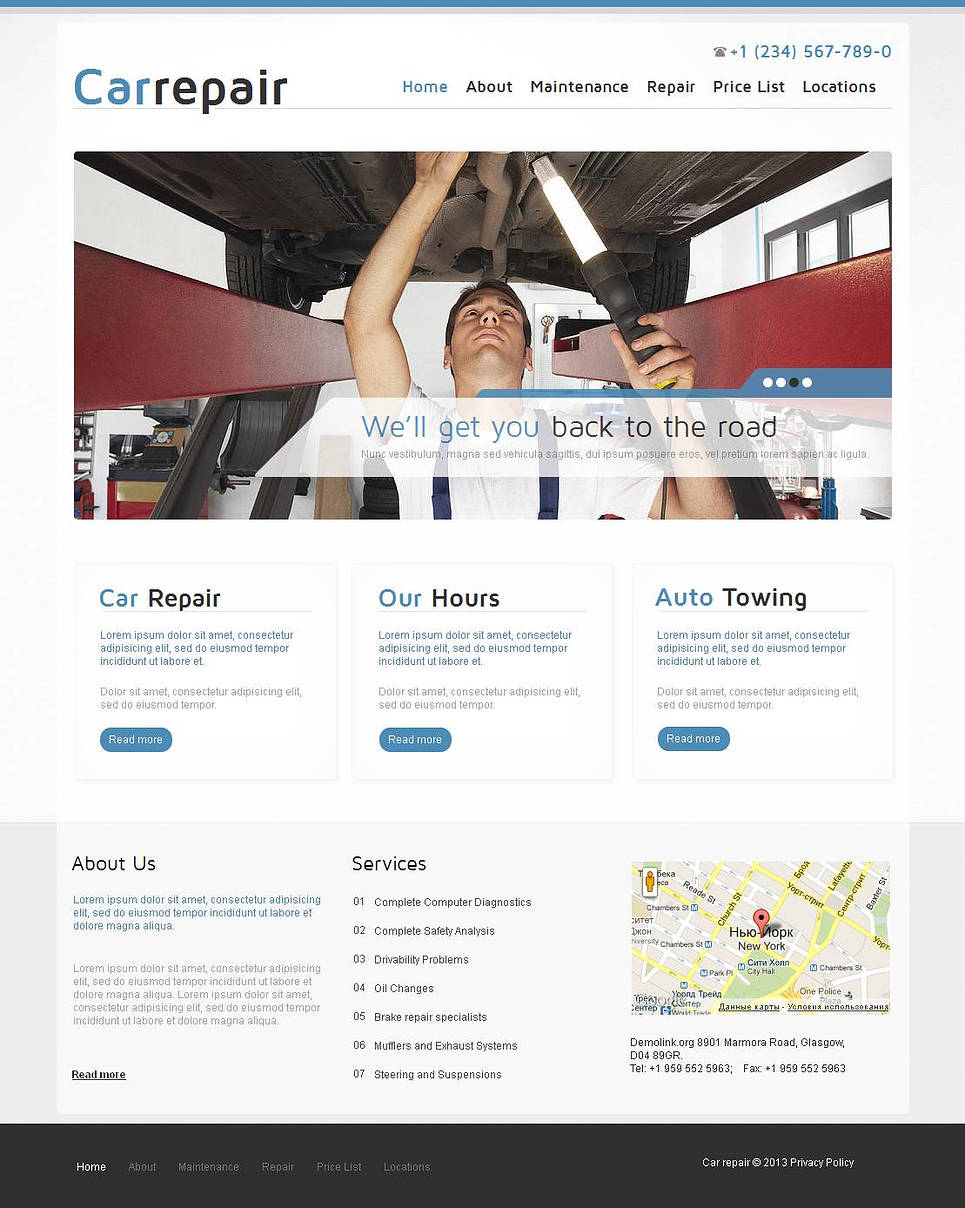 Clean Style Website Template for Car Repairs - image