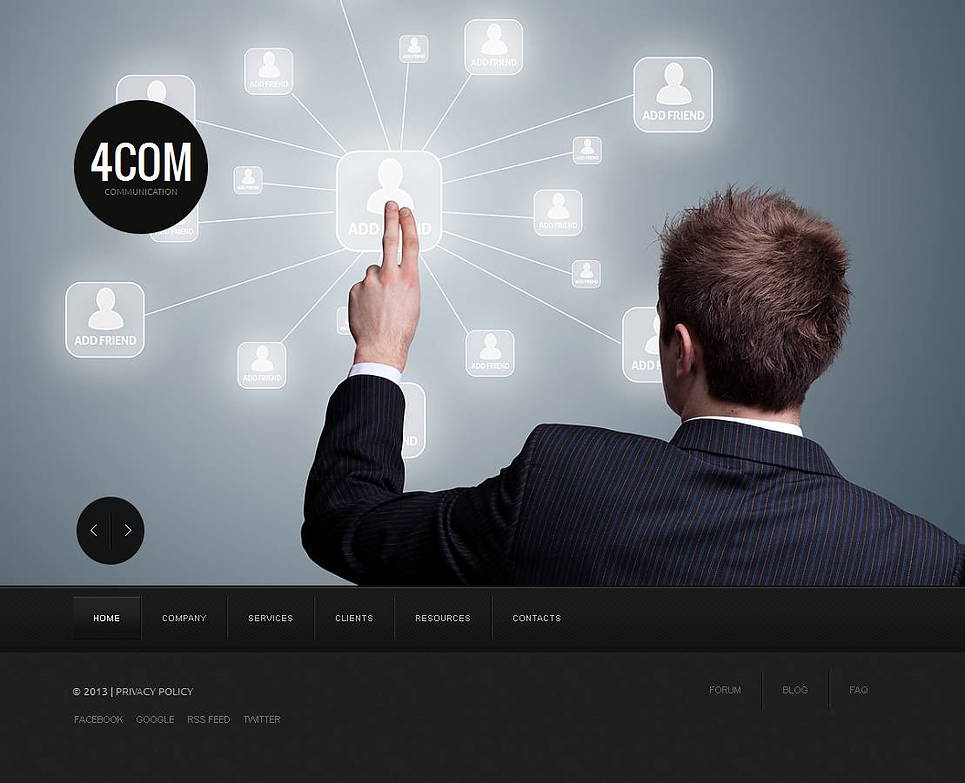 MotoCMS HTML Szablon #43933 z kategorii Komunikacja - image