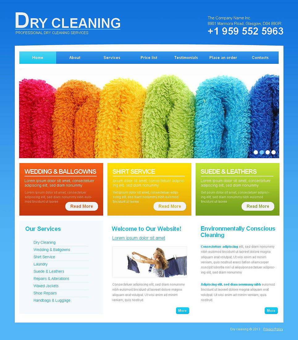 Professional Cleaning Company Template with Colorful Text Bricks - image