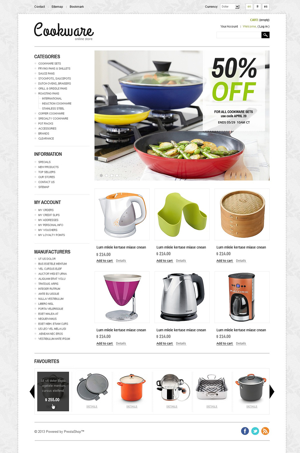 Professional Cookware PrestaShop Theme