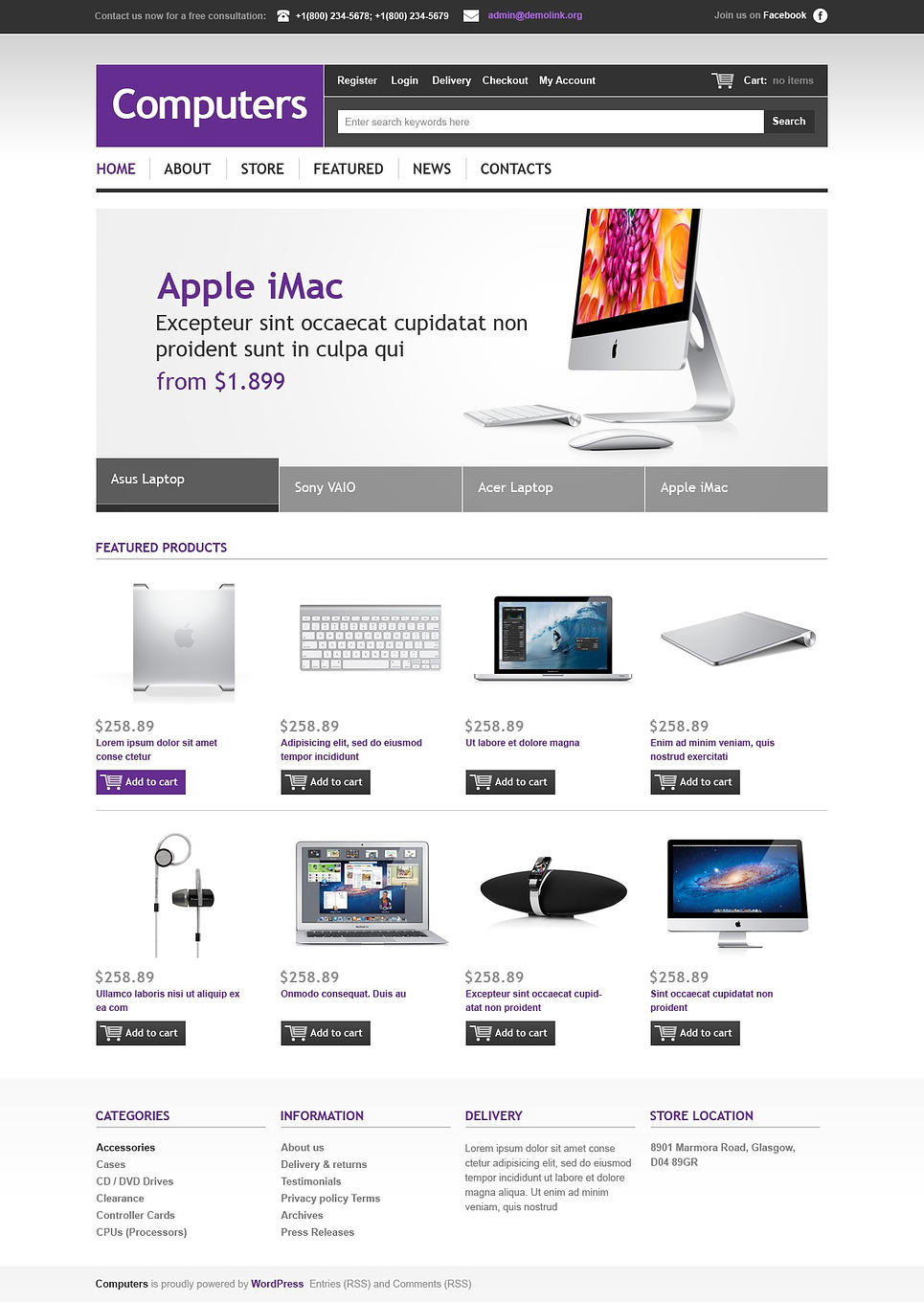 Ultimate Computers Store Responsive JigoShop Theme