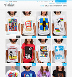 T-Shirt Store - PrestaShop Theme #43999 by Hermes