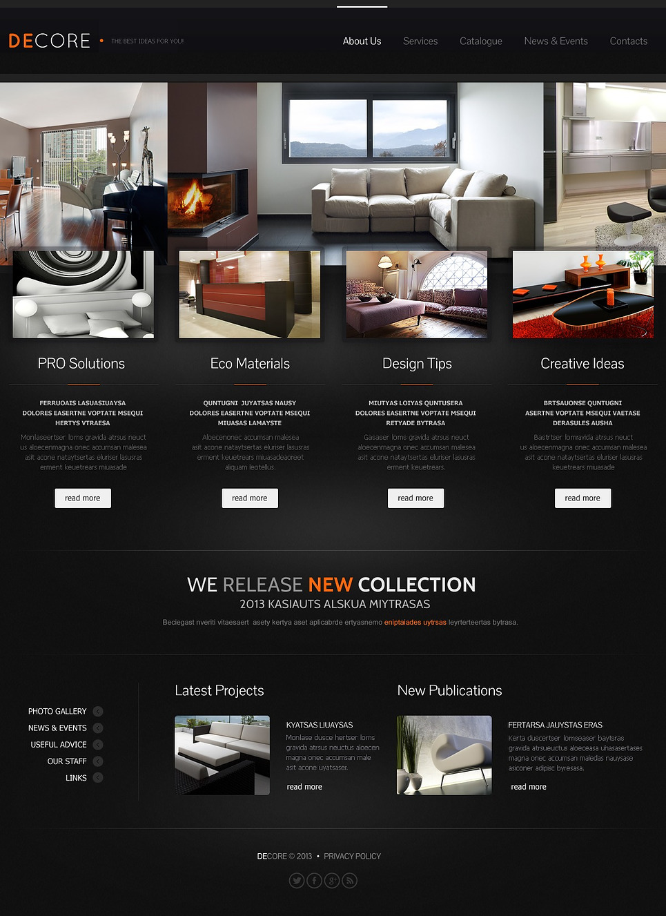 Furniture Responsive Website Template 44030