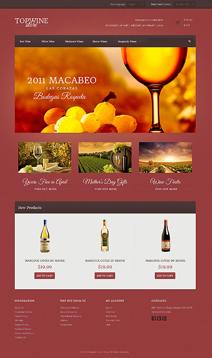 Top wine store - Spectacular Magento Wine Shop Theme