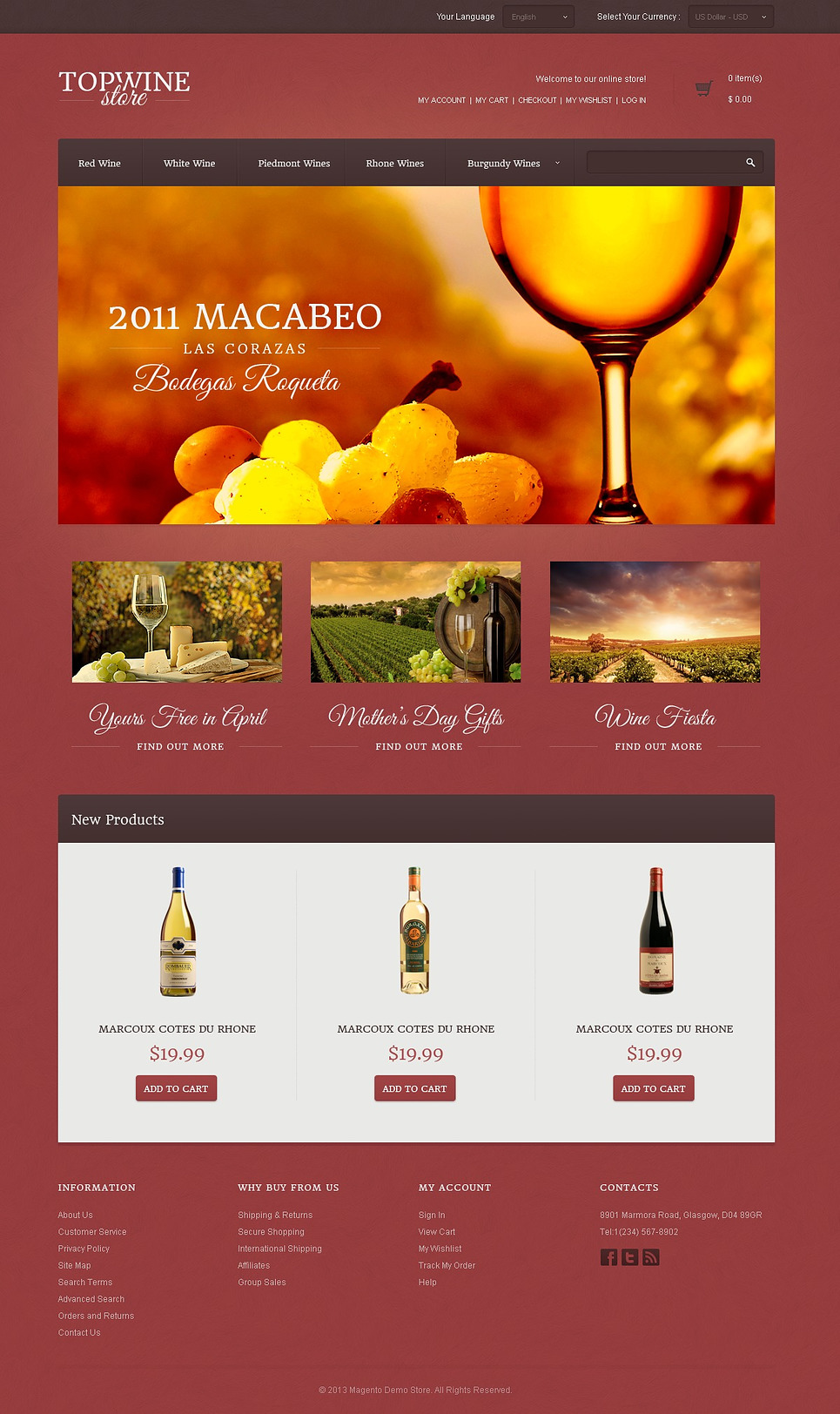 Top Wine Store Magento Theme New Screenshots BIG