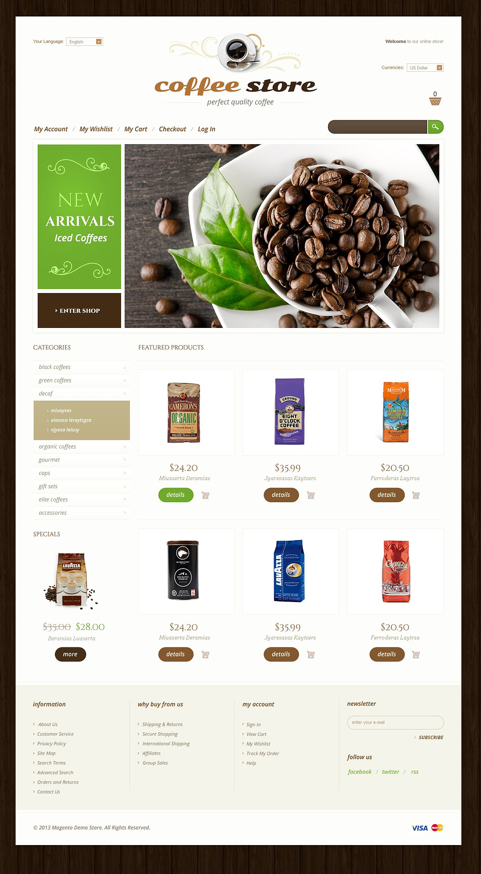 Perfect Quality Coffee Magento Theme