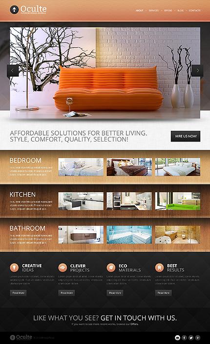 Oculte - Responsive Interior Design Drupal Template