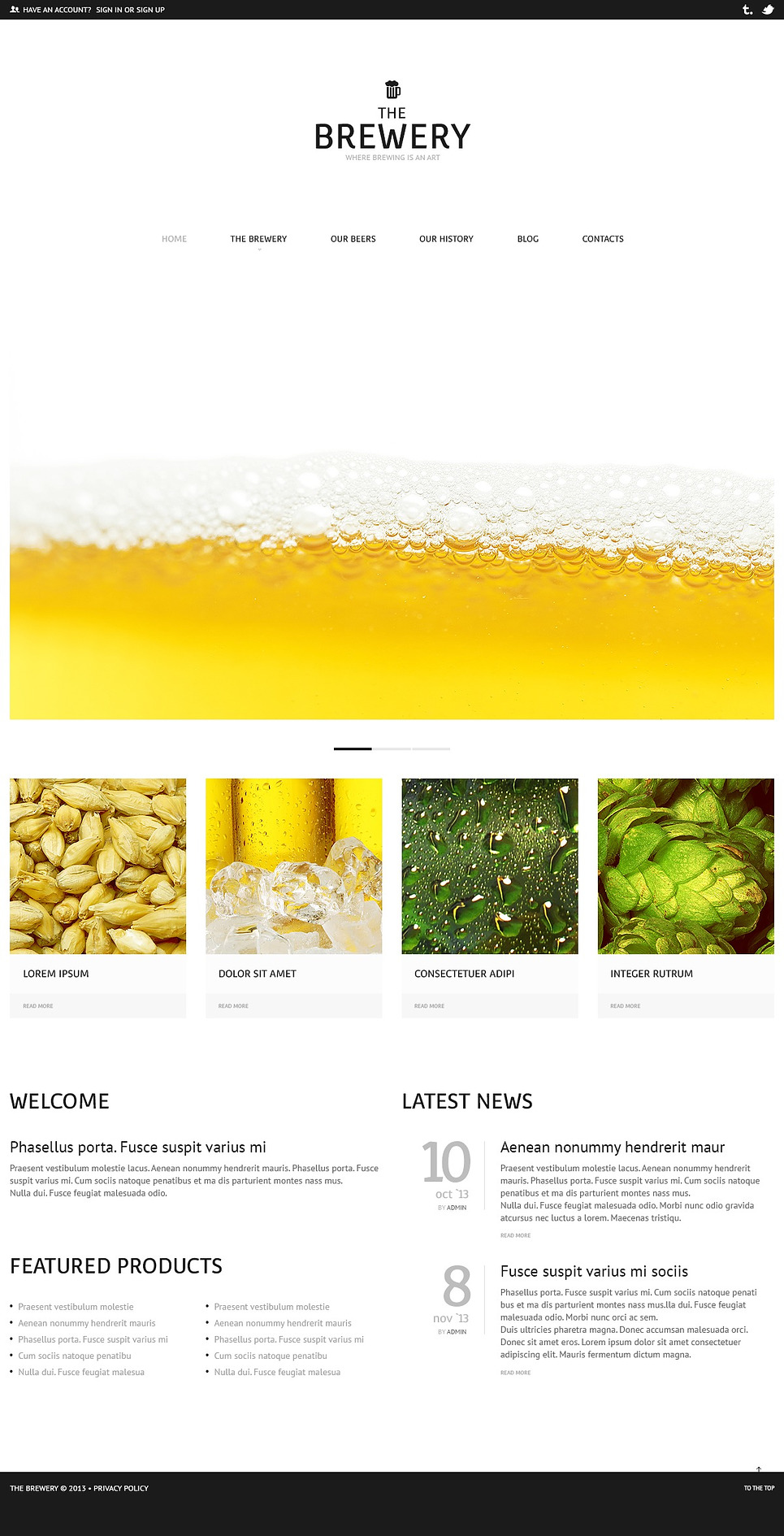 The Brewery - Ultimate Business Brewery Responsive WordPress Theme