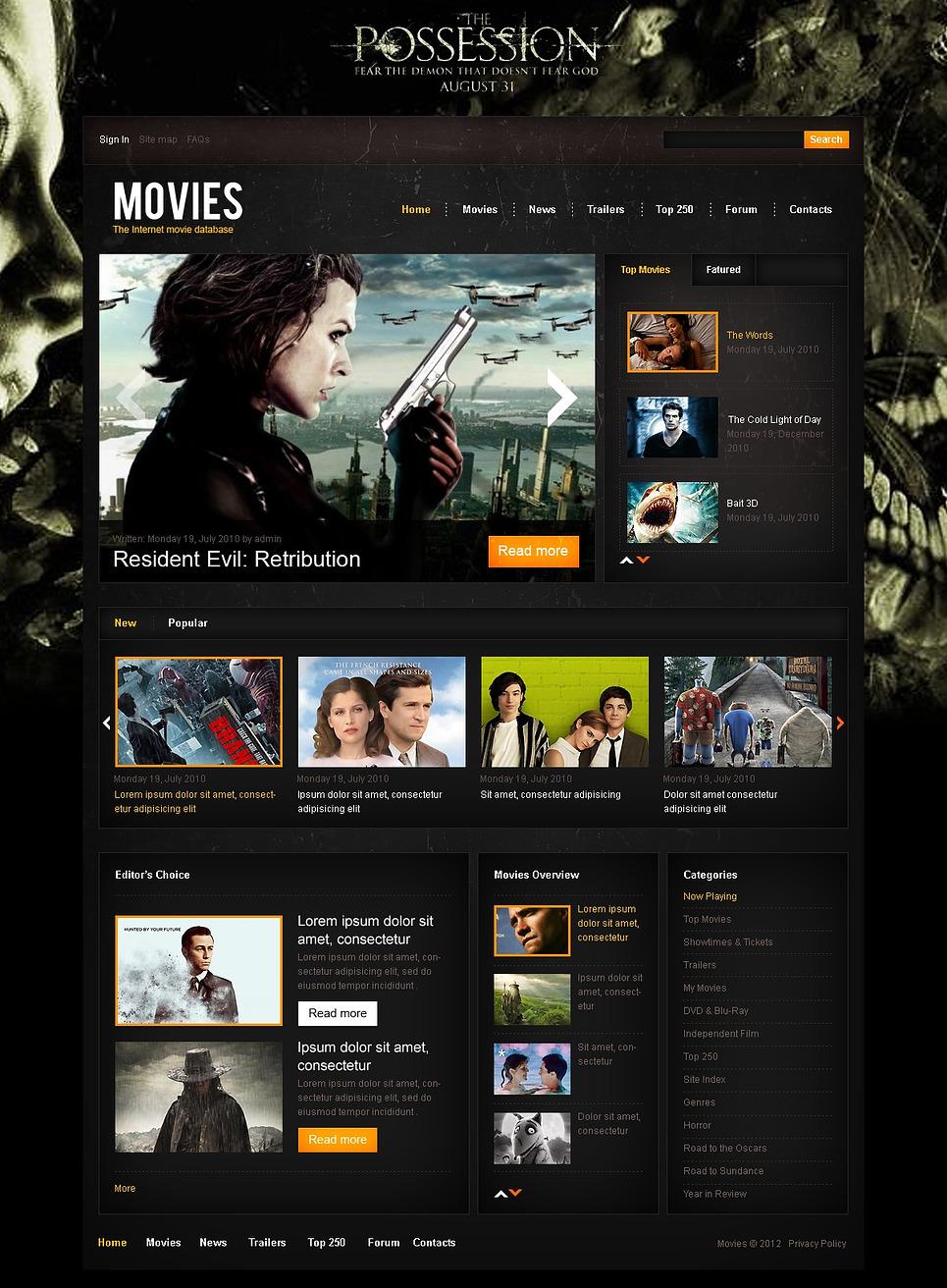 internet movie database drupal template web design