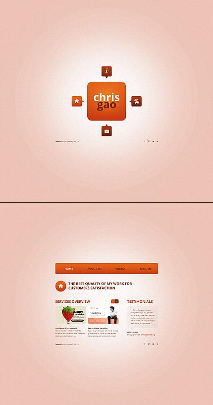 Pink Grey Designer Portfolio Website Template by Ares Bootstrap