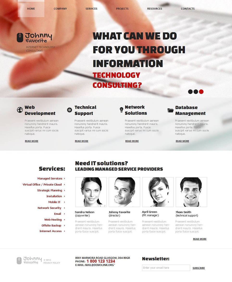 Internet Consulting Website Template - image