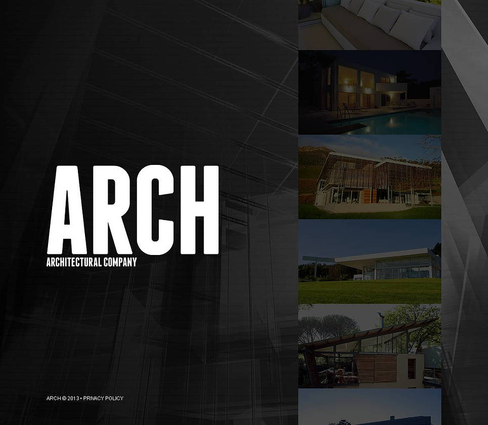 Architecture Website Template with a Vertically Oriented Gallery - image