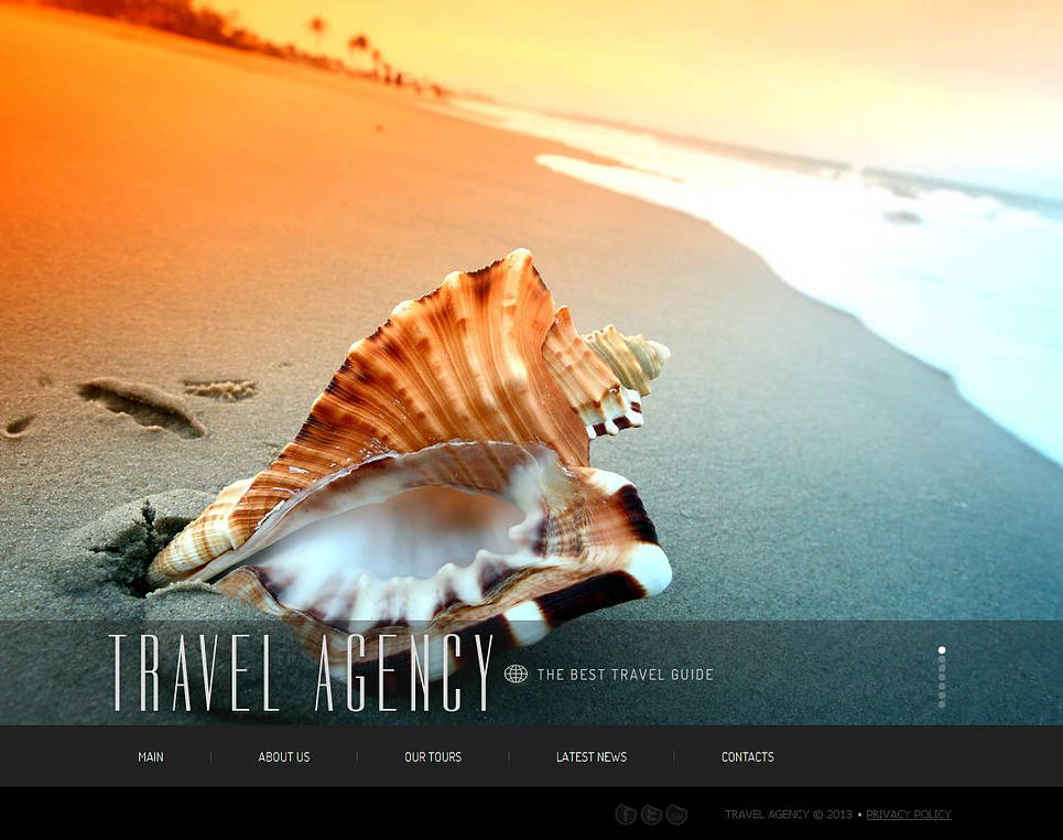 Travel Company Template with Visual Elements and Bottom Menu - image