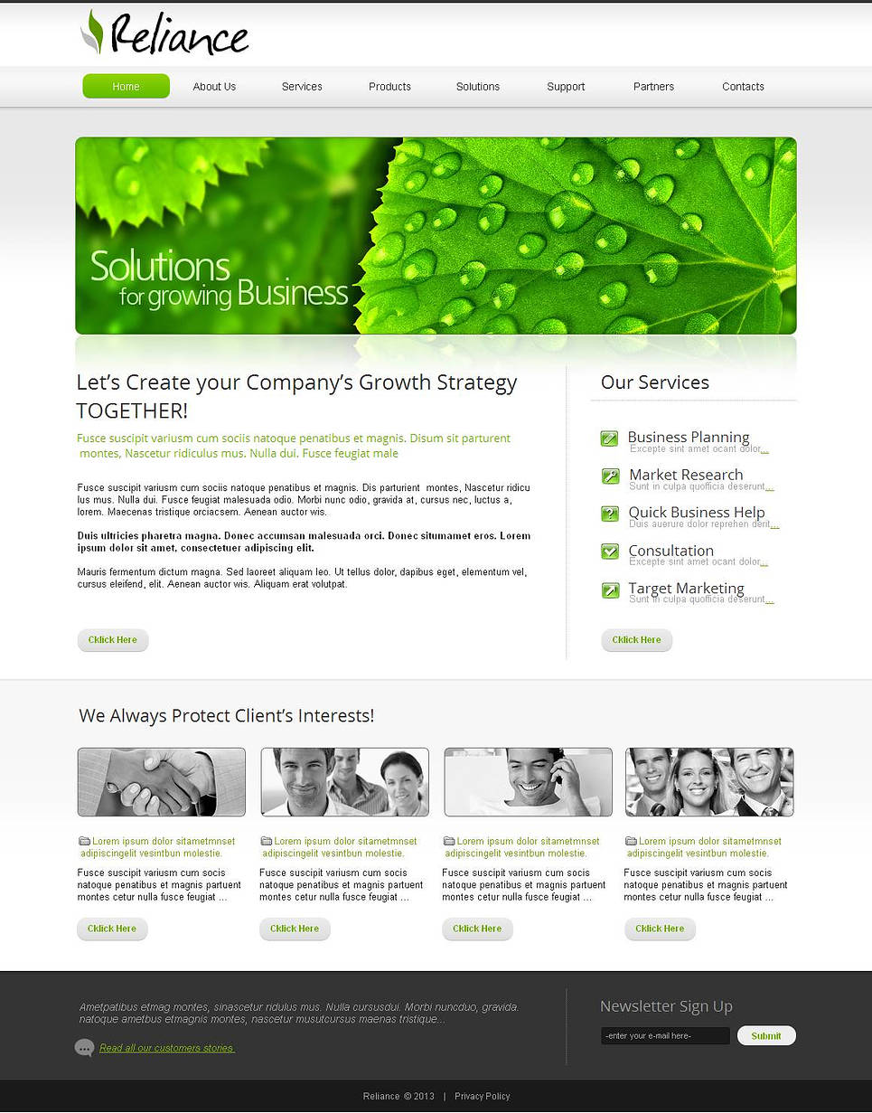Minimal Website Template for Business Development - image