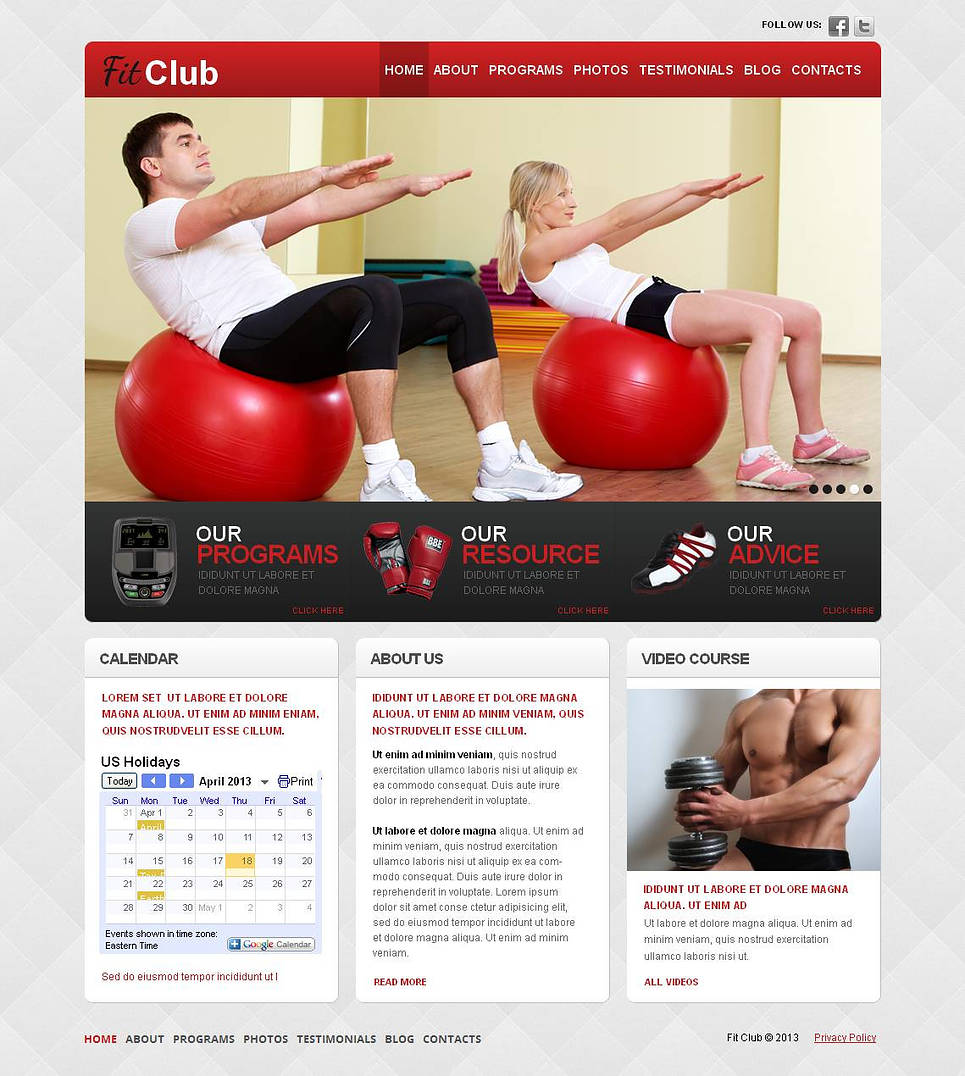 Fitness Template for Sport Clubs - image