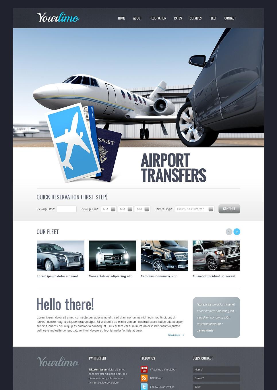 Limousine Transportation Company Website Template - image