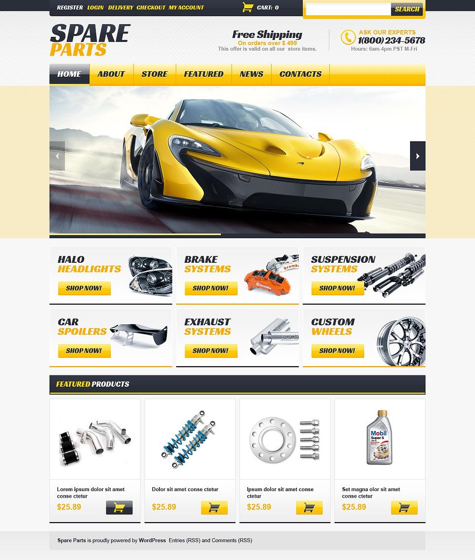 Responsive Spare Parts Store Jigoshop Theme 44154