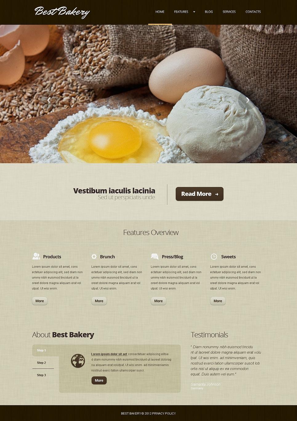 Well-Baked Bakery Responsive Joomla Template