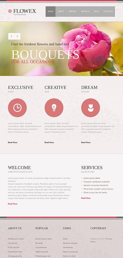 Joomla Template for Florists