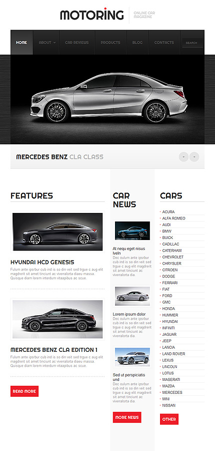 car responsive website template web design templates website templates download car. Black Bedroom Furniture Sets. Home Design Ideas