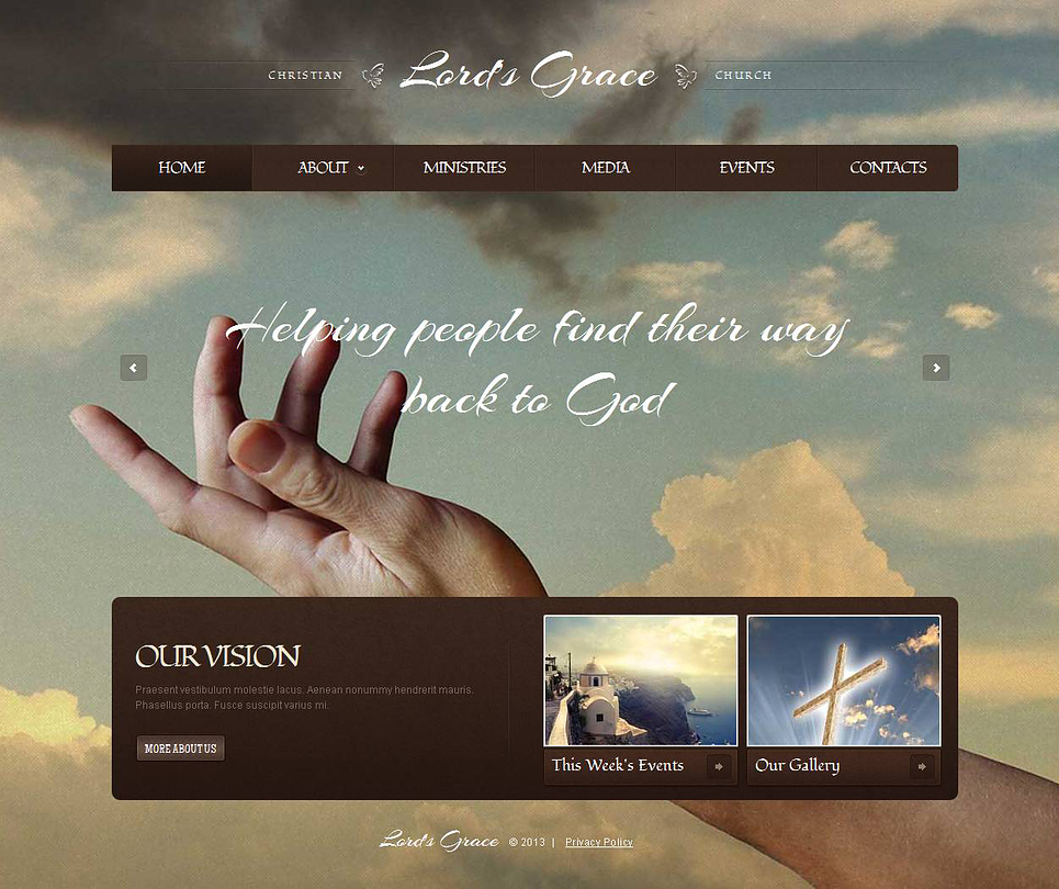 Christian Church Website Template with a Background Photo Gallery - image