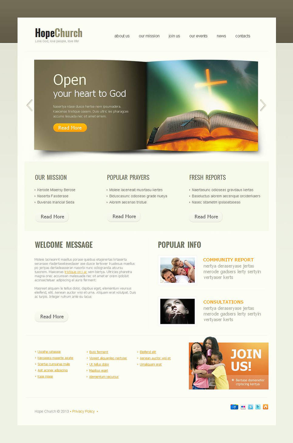 Religious Website Template with a Book Style Content Slider - image