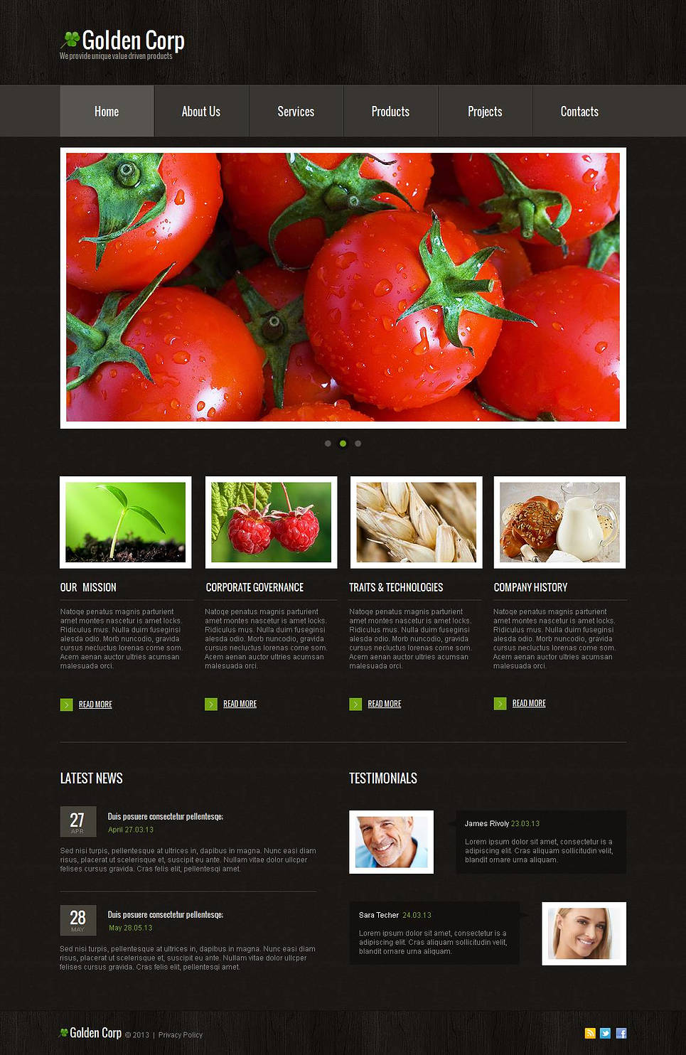 Black Web Template for Agriculture Business - image