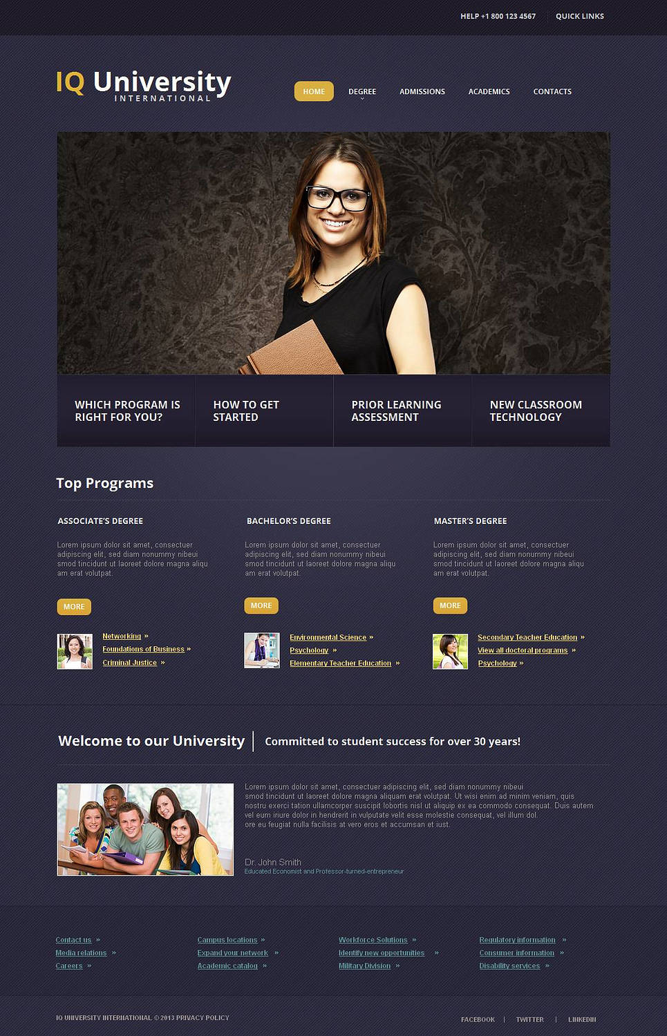 Violet Website Template for Educational Institutions - image