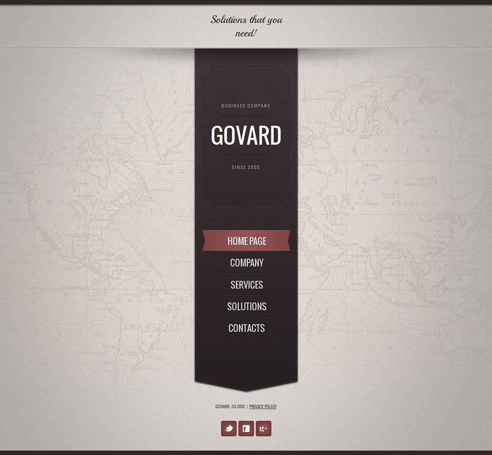 Marketing Website Template with Vertical Menu Toolbar - image